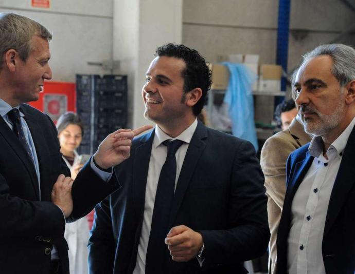 Visita de Alfonso Rueda, vicepresidente de la Xunta, a nuestras instalaciones